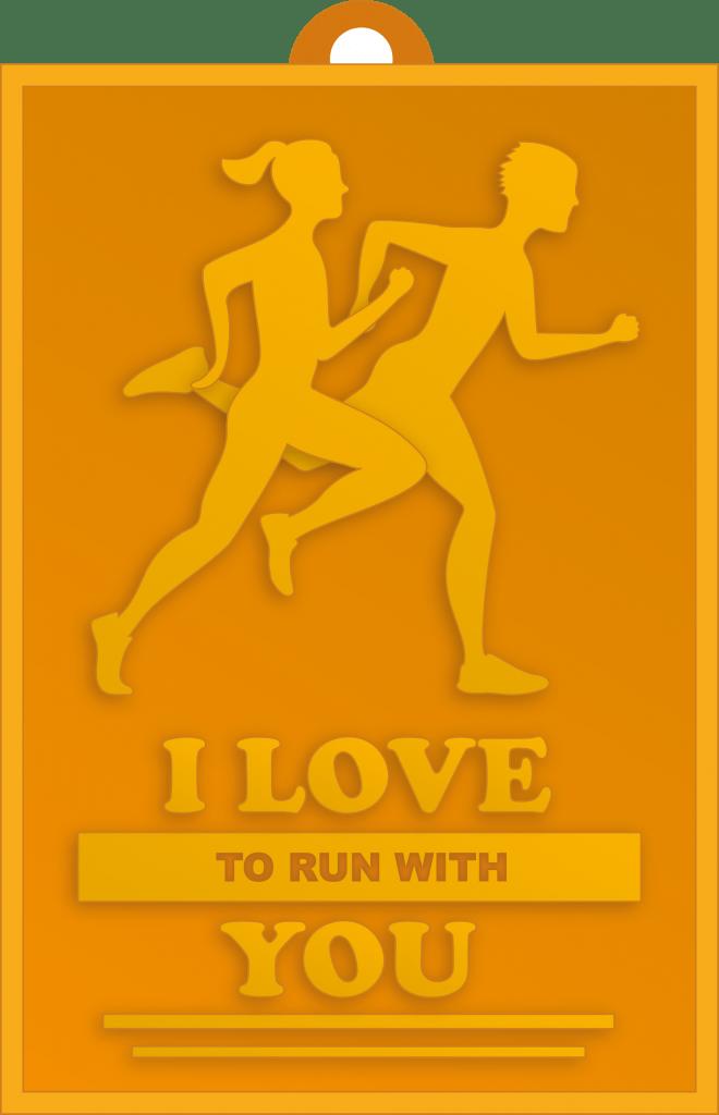 Valentinstags Challenge Medaille